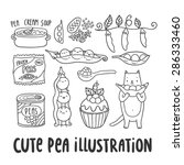 cute cartoon set of pea... | Shutterstock .eps vector #286333460