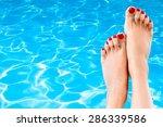 red  spa  closeup. | Shutterstock . vector #286339586