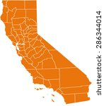 map of california | Shutterstock .eps vector #286344014