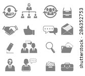 vector icon set business and...   Shutterstock .eps vector #286352753
