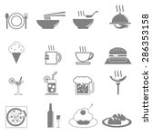 icon vector set food and... | Shutterstock .eps vector #286353158