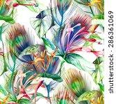 tropical seamless pattern | Shutterstock . vector #286361069