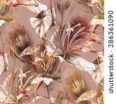 tropical seamless pattern | Shutterstock . vector #286361090