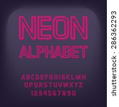 neon font. vector illustration. | Shutterstock .eps vector #286362293