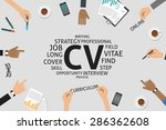 vector cv concept template | Shutterstock .eps vector #286362608
