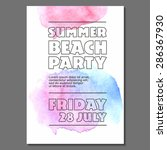summer night party vector club... | Shutterstock .eps vector #286367930