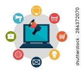 marketing online design over... | Shutterstock .eps vector #286372070