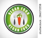 vegan food design  vector... | Shutterstock .eps vector #286373558