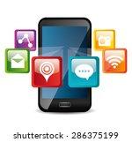 apps design over white...   Shutterstock .eps vector #286375199