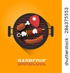 vector poster of barbecue and... | Shutterstock .eps vector #286375553