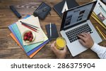 morning digesting of news. man... | Shutterstock . vector #286375904