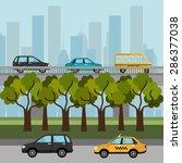 urban design over cityscape...   Shutterstock .eps vector #286377038