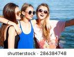 summer lifestyle portrait of... | Shutterstock . vector #286384748