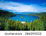 emerald bay  lake tahoe ... | Shutterstock . vector #286393523