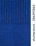 Blue Wool Knitted Textured...