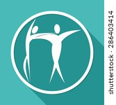 dancer icon on white circle... | Shutterstock . vector #286403414