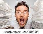 emotional stress  exhaustion ... | Shutterstock . vector #286405034