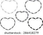 vector heart shapes   Shutterstock .eps vector #286418279