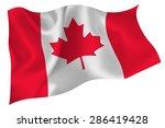 canada flag flag | Shutterstock .eps vector #286419428