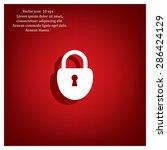 lock vector icon   Shutterstock .eps vector #286424129