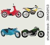 motor bikes image design set.  | Shutterstock .eps vector #286426913