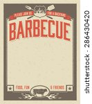backyard barbecue invitation... | Shutterstock .eps vector #286430420