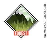 forest  design over white... | Shutterstock .eps vector #286437080