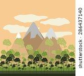 forest design over landscape ... | Shutterstock .eps vector #286437140