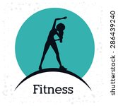 fitness design over white... | Shutterstock .eps vector #286439240