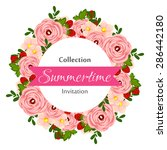 summertime collection. romantic ... | Shutterstock .eps vector #286442180