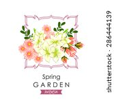 spring garden collection.... | Shutterstock .eps vector #286444139