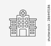 hospital line icon | Shutterstock .eps vector #286445186