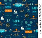 dark blue newspaper style... | Shutterstock .eps vector #286450040