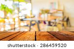 Blur Image Of Coffee Shop With...