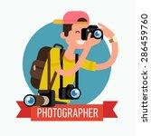 cool vector photographer... | Shutterstock .eps vector #286459760