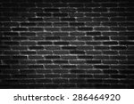 Brick Wall Background In Black...