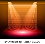 stage lighting red orange...