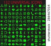 universal set of light green... | Shutterstock .eps vector #286467014