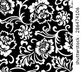 seamless vintage floral... | Shutterstock .eps vector #286474106