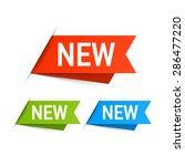 new labels. vector. | Shutterstock .eps vector #286477220