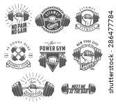 set of vintage gym emblems ... | Shutterstock .eps vector #286477784