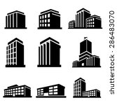 buildings icons vector. | Shutterstock .eps vector #286483070