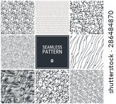 set of wave seamless pattern.... | Shutterstock .eps vector #286484870