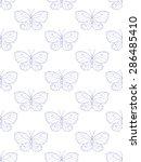 butterflies minimalist pattern... | Shutterstock . vector #286485410