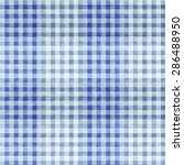 Grungy Patterned Blue Gingham...