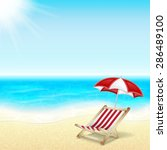 summer vacation background.... | Shutterstock . vector #286489100