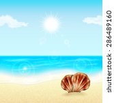 summer vacation background.... | Shutterstock . vector #286489160