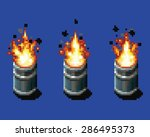 fire in the barrel   animation... | Shutterstock .eps vector #286495373