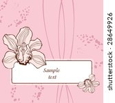 postal with orchids | Shutterstock .eps vector #28649926
