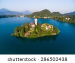 Aerial View Of Bled In Sloveni...